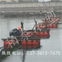 八字形拦污浮筒设计 拦污排过船装置